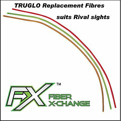 Truglo FX Fibre Exchange pack of 1 Replacement sight fibre in Green, Orange, Red