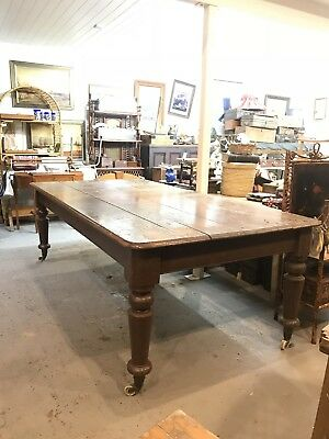 1870's Solid Cedar Table 10 To 12 Seater Massive 2.4 meters in length