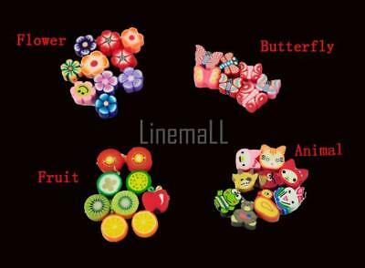 100 PCS Clay Beads DIY Slices Mixed Color Fimo Polymer Clay LM 02