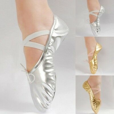 UK Chic Ballet Dance Shoes Slippers Child Adult Pointe Dance Gymnastics Shoes