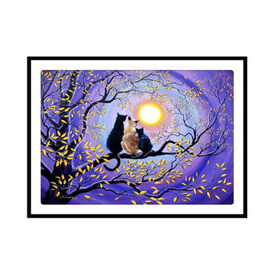 Lovely Cats 5D DIY Diamond Painting Cross Stitch Embroidery Craft Home Decor