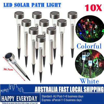 10X LED Solar Outdoor Path Light Spot Lamp Yard Garden Path Lawn Landscape Lamp