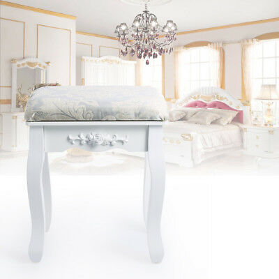 Luxury Piano Keyboard Bench Dressing Table Stool Seat Chair Padded Makeup White