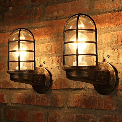 Vintage Industrial Unique Wall Light Iron Rustic Copper Steampunk Lamp Sconce