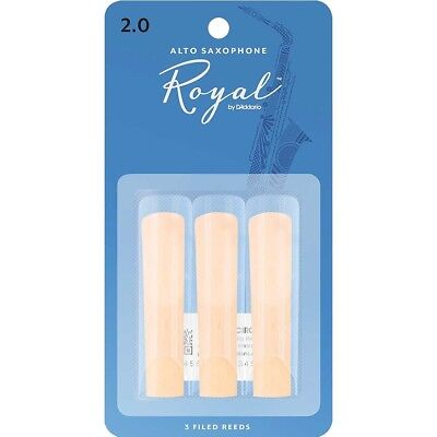 Rico Royal 3 Pack Of Reeds For Alto Sax Size 2