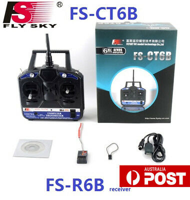 FS-CT6B 2.4GHz 6CH Transmitter and Receiver for RC Helicopter Multicopter Hot KK