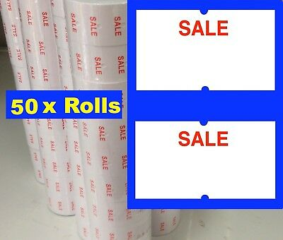 50 Standard SALE Price Pricing Gun Labeller Tag Tagging Label Rolls For MX 5500