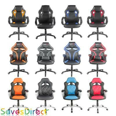 Racing Chair Office Gaming Sports Executive Computer Desk Chair PU Leather Uk
