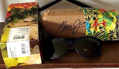 Maui Jim Sunglasses~Rx-Able~Women,s Blue W/rootbeer Frames Msrp: $319 New