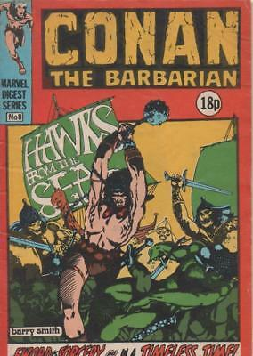 Conan The Barbarion #8 (Marvel Digest Series) 1981 Fine
