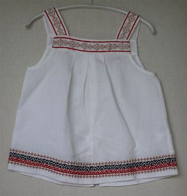 Bonpoint Girls White Embroidered Soleil Top 4 Years