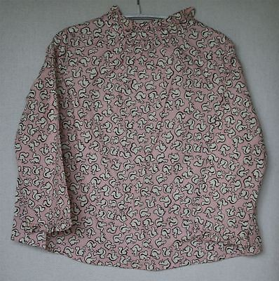 Bonpoint Girls Pink Squirrel Print Felicite Blouse Top 4 Years
