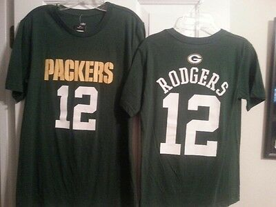 1a7092093 AARON RODGERS GREEN BAY PACKERS Kids Youth Tee Shirt Medium (10 12) New