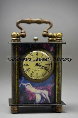 Collectible Old Chinese Copper  Mechanical Table Clock