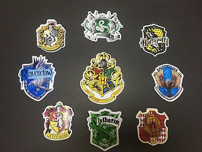 Harry Potter Wall Sticker Decal Small Hogwarts Slytherin house logo  Badge