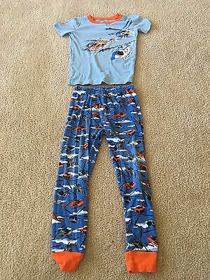 The Children's Place Boy's Blue Short-Sleeve 2-Piece Helicopter Pajamas, Size 7