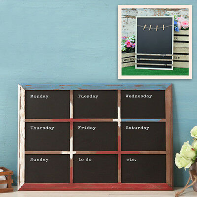 Wall Weekly Planner Blackboard Message Board Distressed Wood Menu Day Planner