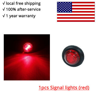"1pcs Round 3/4"" Red eagle eye light  lamp for truck side marker tailer taillight"