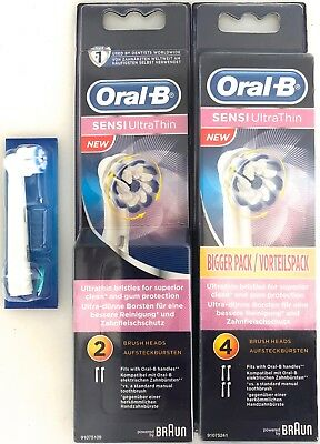 1, 2 or 4 ORAL B SENSI ULTRA THIN REPLACEMENT BRAUN HEADS SENSITIVE YOU CHOOSE