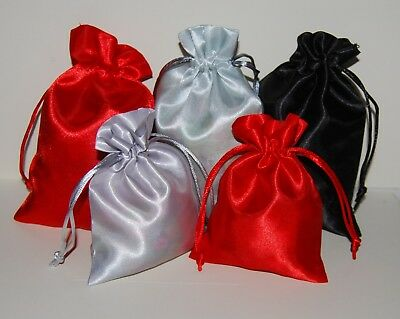 Satin Gift Pouches Wedding Drawstring Jewellery Bags Wedding Favours