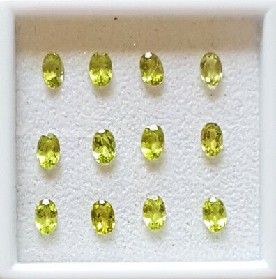 Set of twelve leaf green peridot gems, 6x4 mm ,4.3 carats,  jewellery making?