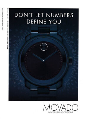 Movado Watch print ad 2017 - Bold Ink - Numbers