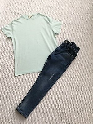 Next & Zara Boys Outfit, Bundle, 6-7 Years Skinny Distressed Jeans, T-Shirt