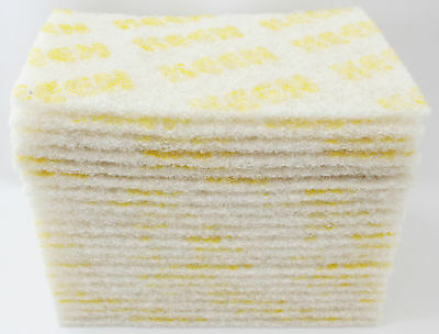 "60- White Cleaning 6"" x 9"" wet dry Scuff Pad NON ABRASIVE KEEN Brite 55049"