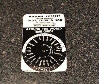 Around The World Time Guide Advertising Wheel Thos. Cook & Son Minnesota