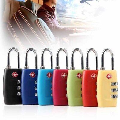 TSA Resettable 3 Digit Combination Lock Travel Luggage Suitcase Code Padlock w/