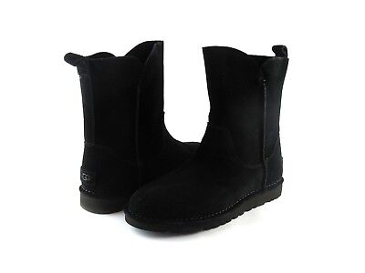 4c43522e414 UGG AUSTRALIA ALIDA Black Suede Leather Short Pull On Ankle Boot NEW Size 10