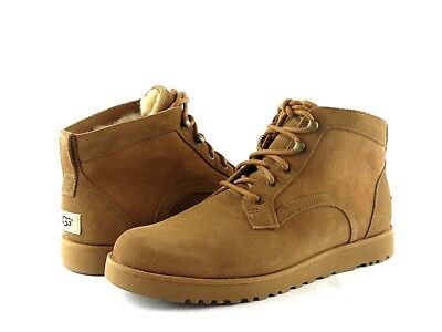 65da4a4a7 Ugg Australia Bethany Chestnut Suede Leather Lace Up Chukka Ankle Boot Size  11
