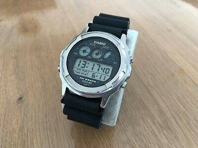 Vintage Casio Tri Graph TGW-100 Watch Armbanduhr