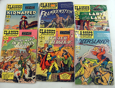 Classics Illustrated lot of 6 early editions -  #17, 26, 46,69,75,79 VG
