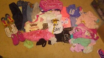 TODDLERS GIRLS SIZE 12MONTHS LOT OF 43. 3 PAIRS OF SHOES. Baby summer