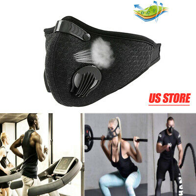 Outdoor Activated Carbon Filter Dust Face Mask Dustproof Breathing Respirator US