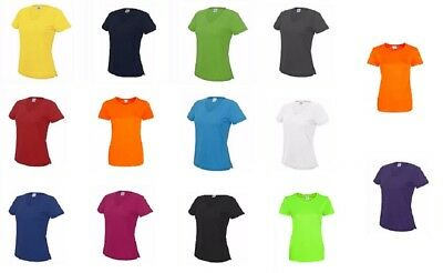 AWDis Ladies Cool Girlie Smooth Polyester T-Shirt Short Sleeve Gym Style Tee Top
