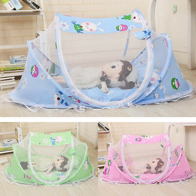 Folding Baby Mosquito Crib Net Infant Bed Playpen Canopy Tent Sleeping Cushion