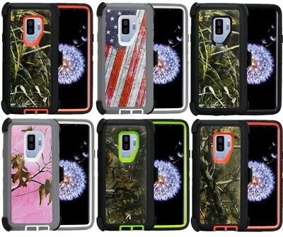 huge discount 8ffd4 88904 FOR SAMSUNG GALAXY S9 & S9 Plus Camo Case ( Belt Clip Fits Otterbox  Defender )