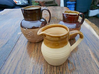 2 Doulton Lambeth Harvester Jugs and 1 T.G. Green Granville Stoneware Jug a/f