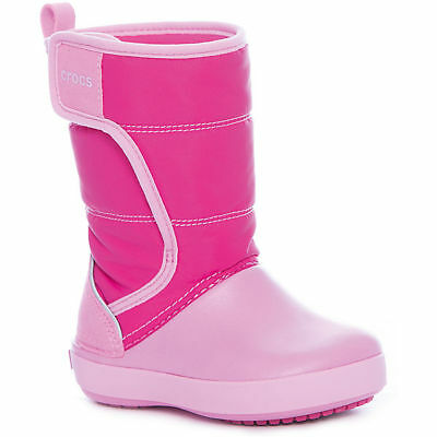 45c63f895 New Kids Girls Crocs LodgePoint Winter Boots Winter Shoes SZ C 10 11 12 13  Pink