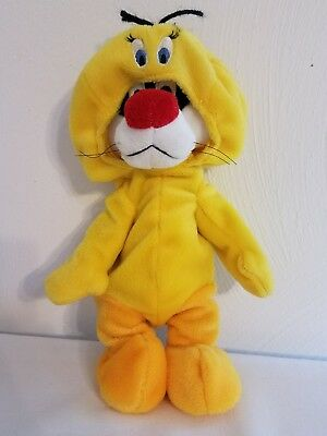 Sylvester the Cat Plush in Tweety Bird Costume Looney Tunes Warner Bros 1999