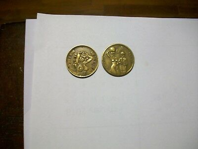 Heads Tails Woman Novelty Coins 2 Total