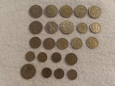 Lot of 23 United Kingdom-George VI& Elizabeth II Coin 1948-1973