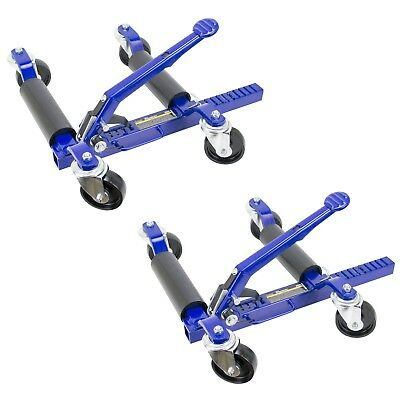 Jackco 1250 LB Car Positioning Dolly with Ratcheting Foot Pedal (2 Pack)