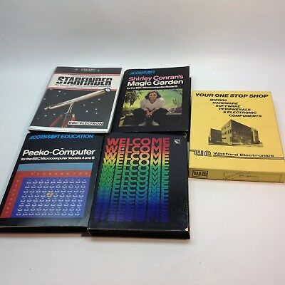 Lot of Vintage BBC Microcomputer Software Programs on Tape