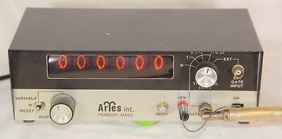 Aries Inc, Frequency Counter 6 x ZM1000 Nixie Tube - Tested & Working See Pics