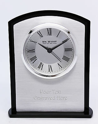 Personalised Metallic Mantel Clock with Roman Numeral Display, Engraved Free