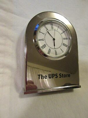 Vintage UPS STORE CLOCK or PAPERWEIGHT Chrome Glass ART DECO