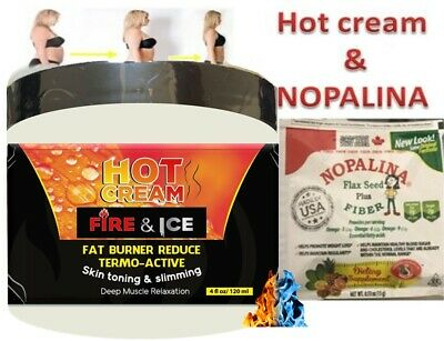 REDUCER HOT CREAM ULTRA GEL CREMA REDUCTORA 4Oz EXCESSIVE BODY FAT BURNER NOPALI